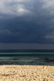Lonely seascape under a cloudy sky Stock Photography