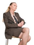 Lonely senior female manager Royalty Free Stock Photos