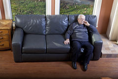 Lonely senior man. Alone at a retiremant home Royalty Free Stock Photography