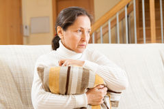 Lonely senior woman Royalty Free Stock Photography