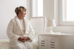 Lonely senior woman Royalty Free Stock Photo