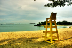 Lonely Sentosa Beach Singapore Royalty Free Stock Photography