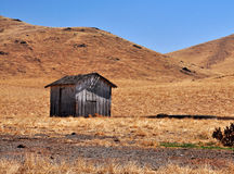 Lonely Shed. An isolated ranch shed california stock photography