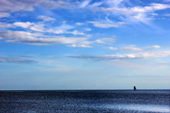 Lonely ship royalty free stock images