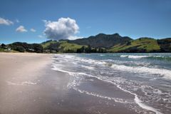 Lonely shore at Whitianga Stock Images