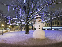 Lonely snowman Stock Images