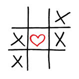 Lonely solated heart valentine love game. Vector love game with isolated heart Royalty Free Stock Photos