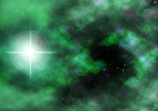 A Lonely Star stock illustration
