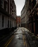 Lonely street in Bristol stock photography