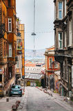 Lonely street of Istanbul in the evening Royalty Free Stock Photo