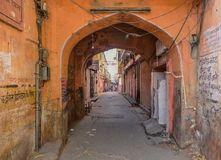 Lonely street of Jaipur Royalty Free Stock Photos