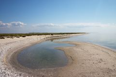 Lonely summer sea coast Royalty Free Stock Photos