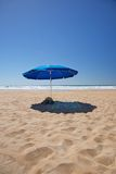Lonely sunshade Stock Photo
