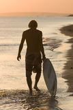 Lonely Surfe Stock Photo