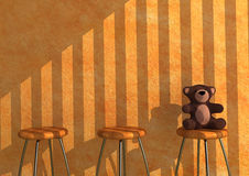 Lonely Teddy royalty free illustration