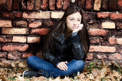 Lonely teenage girl Royalty Free Stock Photo