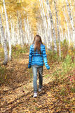Lonely teenage girl in the autumn Stock Photography