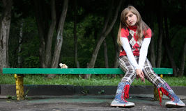 The lonely teenager Royalty Free Stock Photos