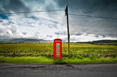 Lonely telephone callbox Stock Images