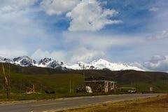 Lonely tibetan hut Stock Photo