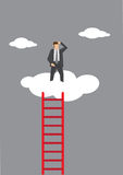 Lonely at the Top Vector Illustration Royalty Free Stock Photo