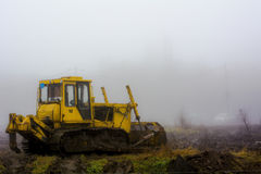 Lonely traktor Royalty Free Stock Photography