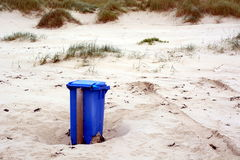 Lonely trash can Stock Image