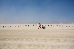 Lonely traveller, Burning Man Festival 2012 Stock Images