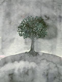 Lonely tree royalty free illustration