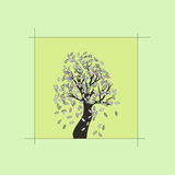 Lonely tree. Vector illustration.eps 8 Royalty Free Stock Photos