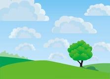 Lonely tree, vector stock photo