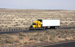 Lonely trucker Stock Images
