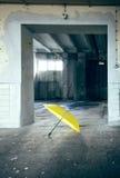 Lonely umbrella Stock Photography