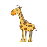 Lonely vector giraffe Stock Photos