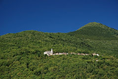 Lonely village. In the mountains in the area of Lago Maggiore Stock Photo