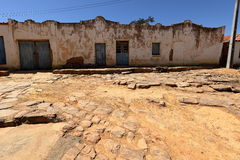 Lonely village Queixo Dantas in the Caatinga of Brazil Stock Photos