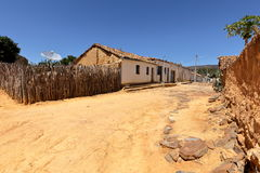 Lonely village Queixo Dantas in the Caatinga of Brazil Stock Photo