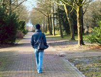 Lonely walk Stock Photography