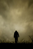 Lonely walk Royalty Free Stock Photography