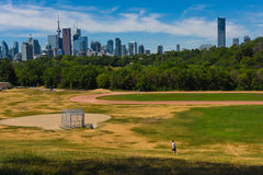 Lonely walker in riverdale park Stock Image