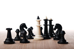 Lonely white chess king Royalty Free Stock Images