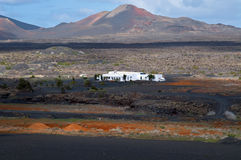 The lonely white house  - Lanzarote, Canarian Islands. Royalty Free Stock Images