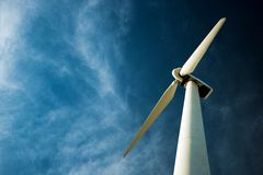 Free Lonely Wind Turbine Royalty Free Stock Image - 48911706