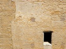 Lonely Window. Stone wall at the Vatican, Rome Italy Stock Photo