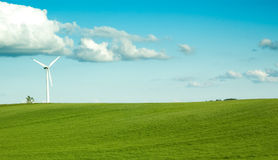 Lonely windturbine Royalty Free Stock Photos