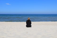 Lonely woman Royalty Free Stock Image