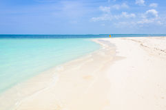 Lonely woman in Cayo Levisa Island in Cuba Stock Photography