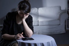 Lonely woman after divorce Stock Image