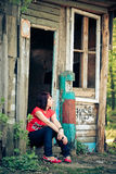 Lonely woman, outdoor portrait Royalty Free Stock Image