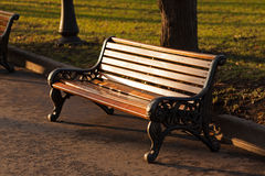 Lonely wooden bench Stock Photography
